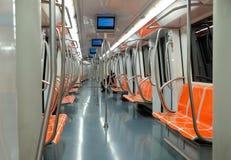 Interior del coche de subterráneo Fotos de archivo