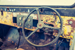 Interior del coche del vintage Imagen de archivo libre de regalías