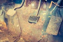Interior del coche del vintage Imagenes de archivo