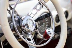 Interior del coche retro Fotografía de archivo libre de regalías