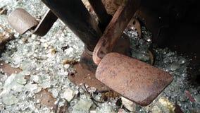 Interior del coche roto forgotton Imagen de archivo