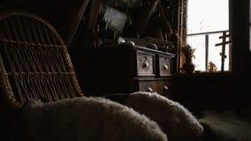 Interior del cortijo almacen de video