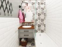 Interior del cuarto de baño Fotografía de archivo libre de regalías