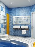 Interior del cuarto de baño Imágenes de archivo libres de regalías