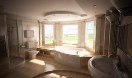 interior del cuarto de baño 3D Imagen de archivo