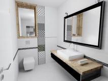 Interior del cuarto de baño moderno 3D Fotografía de archivo libre de regalías