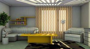 Interior del cuarto de la vivienda Imagen de archivo libre de regalías