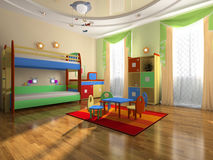 Interior del cuarto del bebé libre illustration