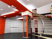 Interior del departamento ilustración del vector