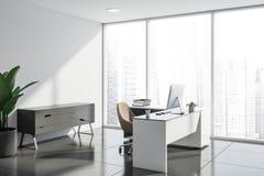 Interior del despacho de dirección blanco libre illustration
