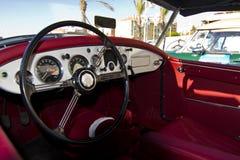 Interior del detalle del coche del vintage Imagenes de archivo