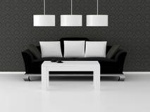 Interior del diseño de la sala de estar de la elegancia Imagen de archivo libre de regalías