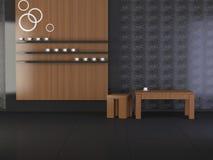 Interior del diseño de la sala de estar moderna de la elegancia Imagen de archivo libre de regalías