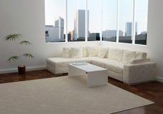 Interior del diseño de la sala de estar moderna de la elegancia Fotografía de archivo