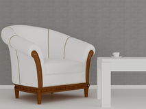 Interior del diseño de la sala de estar, representación 3d Imágenes de archivo libres de regalías