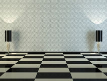 Interior del diseño del sitio de la obra clásica de la elegancia Fotos de archivo