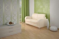 Interior del diseño. Sofá en sala de estar. Fotografía de archivo