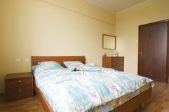 Interior del dormitorio Foto de archivo libre de regalías