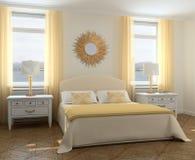 Interior del dormitorio. ilustración del vector