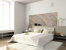 Interior del dormitorio Imagen de archivo libre de regalías