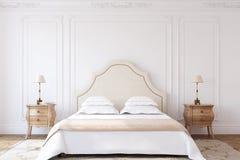 Interior del dormitorio 3d rinden ilustración del vector