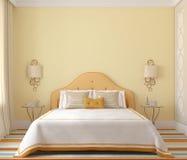 Interior del dormitorio 3d rinden stock de ilustración