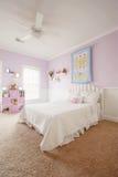 Interior del dormitorio de la muchacha Fotografía de archivo libre de regalías