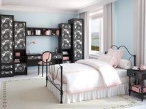 Interior del dormitorio de la muchacha. libre illustration