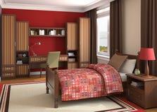 Interior del dormitorio de la muchacha. Foto de archivo