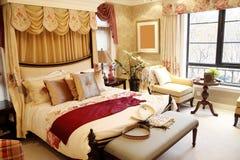 Interior del dormitorio de la mujer Foto de archivo libre de regalías