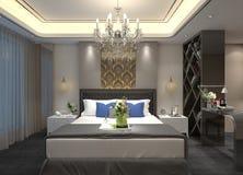 interior del dormitorio del ejemplo 3D Imagen de archivo libre de regalías