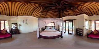 Interior del dormitorio en hotel vr360 metrajes