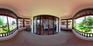 Interior del dormitorio en hotel vr360 almacen de video