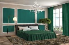 Interior del dormitorio ilustración 3D Imagenes de archivo