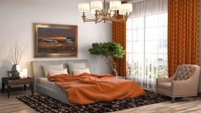 Interior del dormitorio ilustración 3D libre illustration