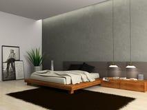 Interior del dormitorio moderno Imagen de archivo