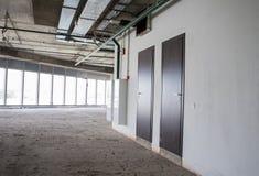 Interior del edificio bajo construcción Fotografía de archivo libre de regalías