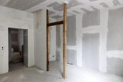 Interior del edificio bajo construcción Foto de archivo libre de regalías