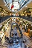Interior del edificio de la reina Victoria Imagen de archivo libre de regalías