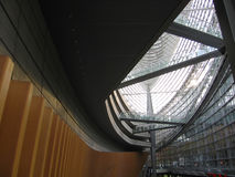 Interior del edificio del metal Imagen de archivo libre de regalías