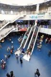 Interior del edificio externo del puerto de Macua Imágenes de archivo libres de regalías