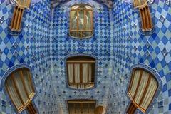 Interior del edificio famoso de Battlo de la casa Foto de archivo
