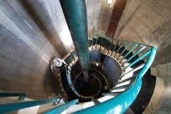 Interior del faro del embarcadero de Tynemouth Imagenes de archivo