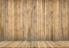 Interior del fondo Pared y suelo de madera Foto de archivo