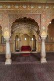 Interior del fuerte de Junagarh, Bikaner, la India imágenes de archivo libres de regalías