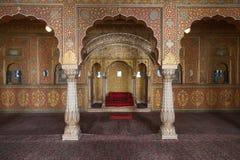 Interior del fuerte de Junagarh, Bikaner, la India foto de archivo libre de regalías