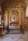 Interior del fuerte de Junagarh, Bikaner, la India fotos de archivo libres de regalías