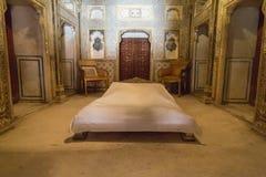 Interior del fuerte de Junagarh, Bikaner, la India imagenes de archivo