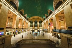Interior del Grand Central Station, NYC foto de archivo libre de regalías