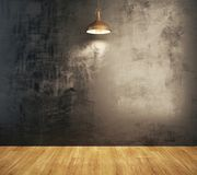 Interior del Grunge con la pared vacía Imagen de archivo libre de regalías